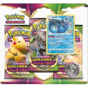 Pokémon Épée et Bouclier EB04 - Voltage Éclatant - Pack 3 boosters - Aquali - Larméon