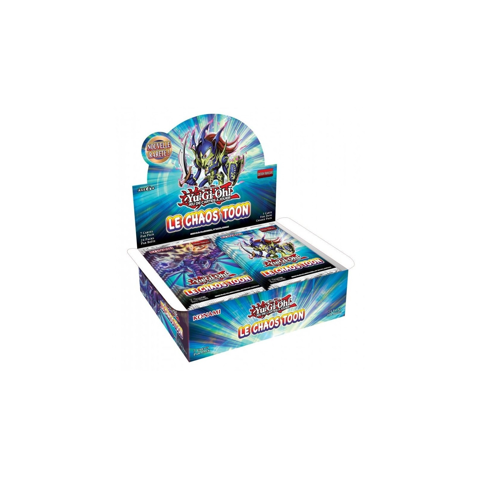 Yu-Gi-Oh! - Display - Boite de 24 Boosters - Le Chaos Toon - FR - Unlimited/Réédition