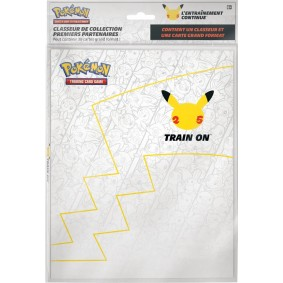 Pokémon - Portfolio - Anniversaire 25 ans + Pikachu Promo 25 ans Grand Format - 30 Emplacements Cartes Grand Format