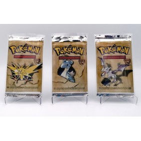 Pokémon - Booster - Fossile Edition 2 - Artset Ptéra/Electhor/Lokhlass - FR