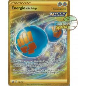 Énergie Mille Poings - Secret Rare 182/163 - Epee et Bouclier Style de Combat