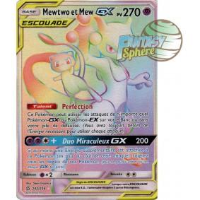 Mewtwo et Mew GX - Secret Rare 242/236 - Soleil et Lune 11 Harmonie des Esprits