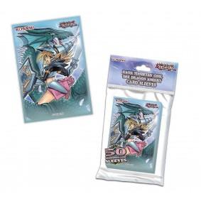 """Yu-Gi-Oh! Protèges Cartes """" La Magicienne des Ténèbres le Dragon Chevalier """" (50ct)"""