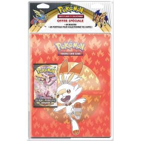 Portfolio - Pack -  Pokémon - 9 Cases / 180 Emplacements + 1 Booster Epée et Bouclier - Clash des Rebelles [EB02] - FR