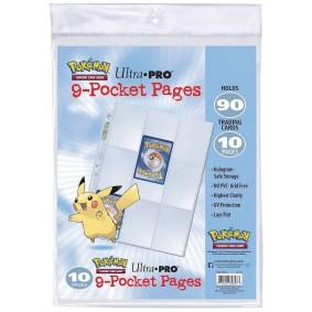 Pages de Classeur - Pokémon - 10 Pages de Classeur - 9 Cases - Silver