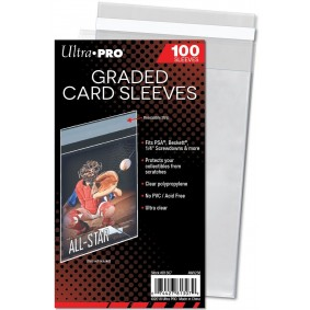 UP - Team Bags - Graded Card Sleeves Resealable - Protège-cartes Gradées Refermables (100)