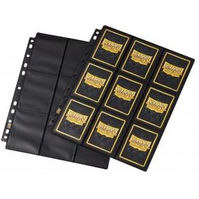 Dragon Shield - 10 Pages de Classeur - 18 Cases - Side-Load Black Non-Glare (10)