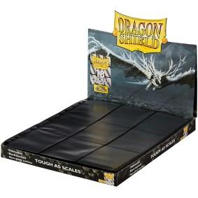 Dragon Shield - 50 Pages de Classeur - 18 Cases - Side-Load Black Non-Glare (50)