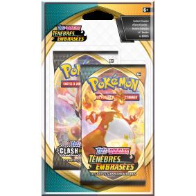 Pokémon Épée et Bouclier EB03- Ténèbres Embrasées - Pack 2 Boosters Célébration