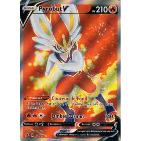 Pyrobut V - Full Art Ultra Rare 178/192 EB02 Clash des Rebelles Carte à l'unité Pokemon