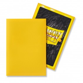 Dragon Shield Small Sleeves - Matte Yellow (60)